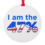 I am the 47% with Obama Logo Round Ornament