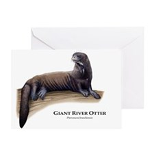 Giant River Otter Greeting Card