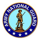 Army national guard Round Car Magnets