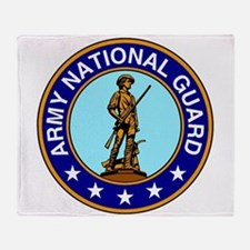 Army National Guard Logo Throw Blanket
