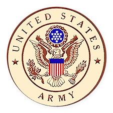 Sandbox Army Logo Round Car Magnet