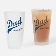 Dad Since 2012 Blue Drinking Glass