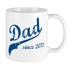 Dad Since 2012 Blue Mug