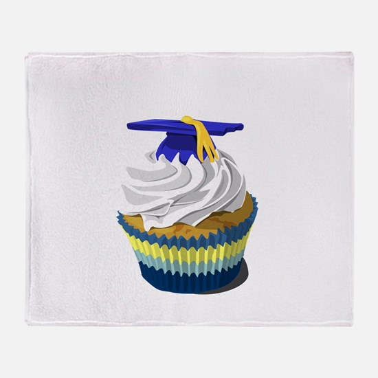 Graduation cupcake Throw Blanket