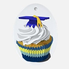 Graduation cupcake Ornament (Oval)