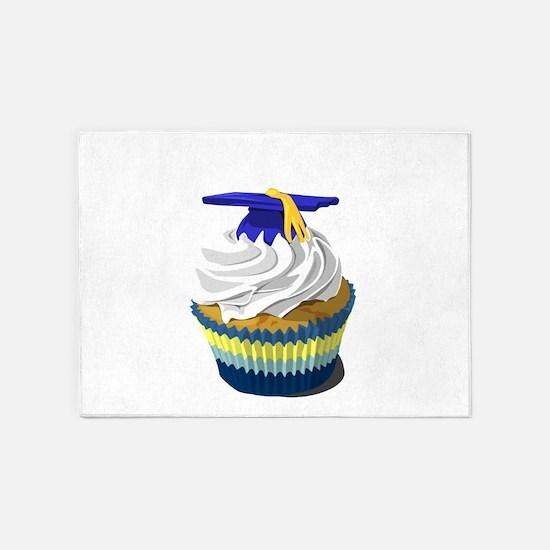 Graduation cupcake 5'x7'Area Rug