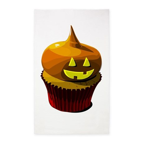 Halloween cupcake 3'x5' Area Rug