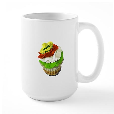 Cinco de Mayo cupcake Large Mug