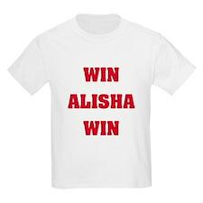 WIN ALISHA WIN Kids T-Shirt