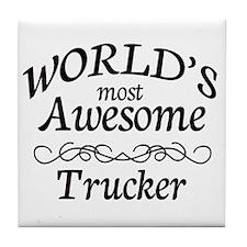 Trucker Tile Coaster