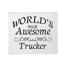 Trucker Throw Blanket