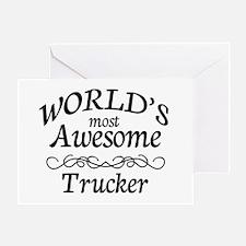 Trucker Greeting Card