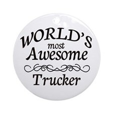 Trucker Ornament (Round)
