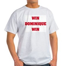 WIN DOMINIQUE WIN Ash Grey T-Shirt
