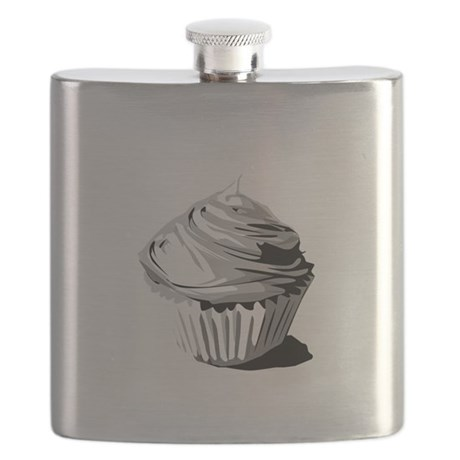 greyvectorcupcake Flask