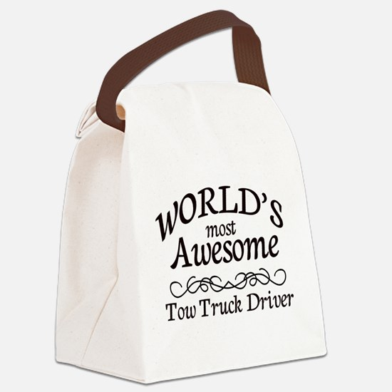 Tow Truck Driver Canvas Lunch Bag
