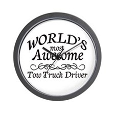 Tow Truck Driver Wall Clock