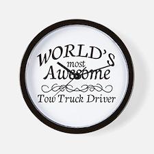 Tow Truck Driver Wall Clock