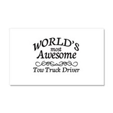 Tow Truck Driver Car Magnet 20 x 12