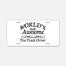 Tow Truck Driver Aluminum License Plate