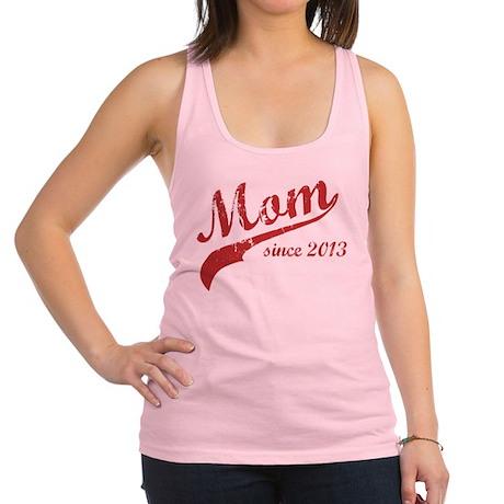 Mom Since 2013 Pink Racerback Tank Top