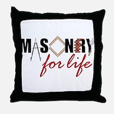 Masonry For Life Throw Pillow