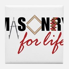 Masonry For Life Tile Coaster