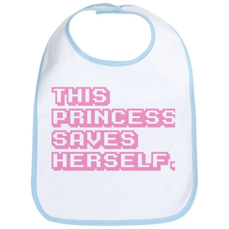 This Princess Saves Herself Bib