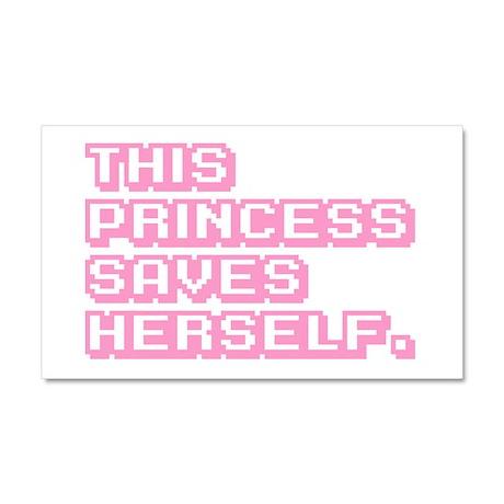 This Princess Saves Herself Car Magnet 20 x 12