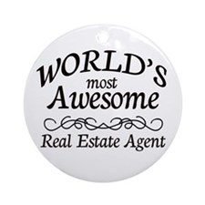 Real Estate Agent Ornament (Round)