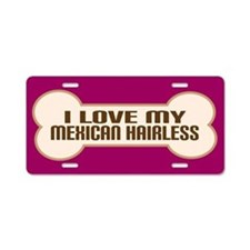 Mexican Hairless Aluminum License Plate