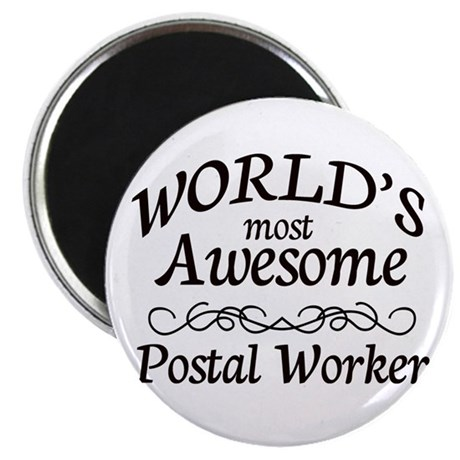 """Postal Worker 2.25"""" Magnet (100 pack)"""