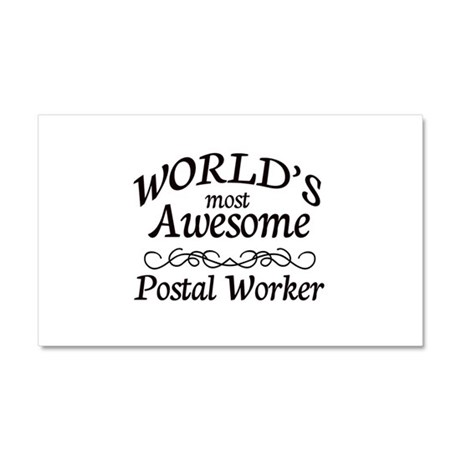 Postal Worker Car Magnet 20 x 12