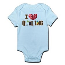 I Heart Quilting Infant Bodysuit
