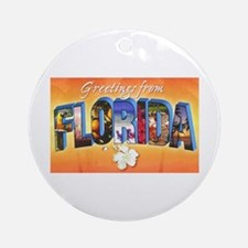 Florida State Greetings Ornament (Round)