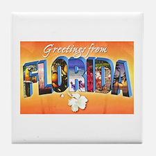 Florida State Greetings Tile Coaster