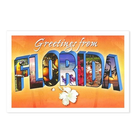 Florida State Greetings Postcards (Package of 8)