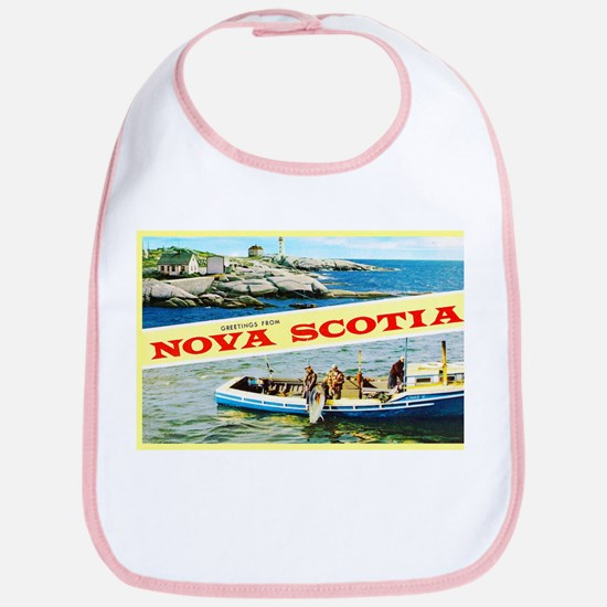 Nova Scotia Canada Greetings Bib
