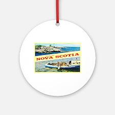 Nova Scotia Canada Greetings Ornament (Round)