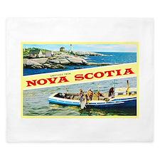 Nova Scotia Canada Greetings King Duvet