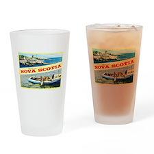 Nova Scotia Canada Greetings Drinking Glass