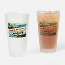 Nova Scotia Canada Greetings Drinking Glass