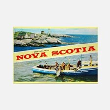 Nova Scotia Canada Greetings Rectangle Magnet