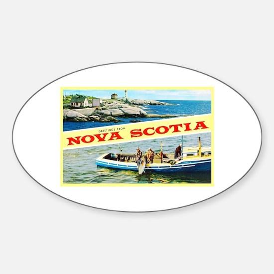 Nova Scotia Canada Greetings Sticker (Oval)