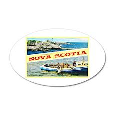 Nova Scotia Canada Greetings 20x12 Oval Wall Decal