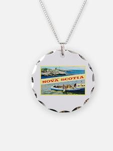 Nova Scotia Canada Greetings Necklace