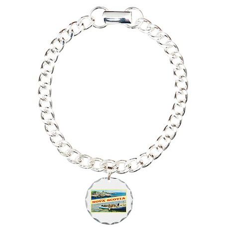 Nova Scotia Canada Greetings Charm Bracelet, One C
