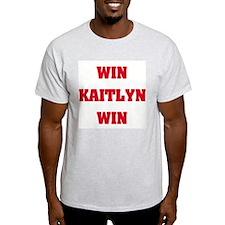 WIN KAITLYN WIN Ash Grey T-Shirt