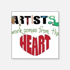 """From The Heart Square Sticker 3"""" x 3"""""""