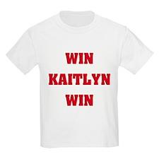 WIN KAITLYN WIN Kids T-Shirt